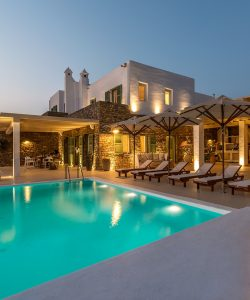 Luxury Villa Kastro is one of the Luxury retreats in Mykonos by Just White VIP Luxury villas.
