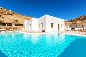 Villa Sotavento of Just White Villas VIP villa services. A Luxury Villa Retreat in Mykonos with pool