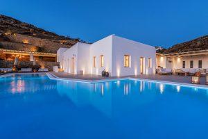 Villa Sotavento of Just White Villas VIP villa services. A Luxury Villa Retreat in Mykonos with pool